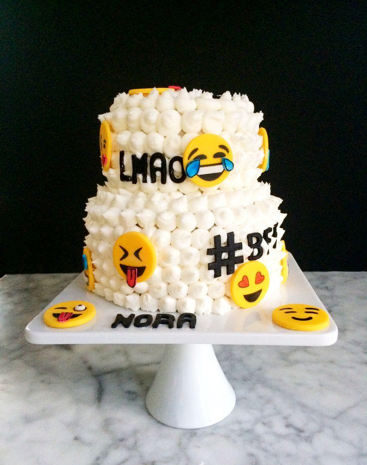 Emoji Cake teens, LMAO, BFF, Selfie, YASS, Hashtags ...