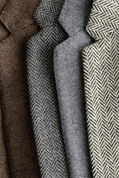 Mmmmmm......herringbone and wool jacs.....a classic and potent combination.  Love these autumn and winter colors.  Soft power.