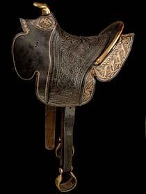 Mexican Saddle, around 1846 - This military saddle, decorated with the Mexican national emblem, was taken as a battle trophy during the Mexican War after the American victory at Cerro Gordo, Mexico.