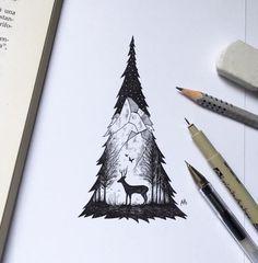 Wunderbare Schwarzstift-Illustrationen werden Sie begeistern