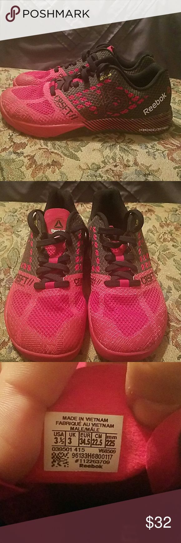 Children's CrossFit shoes Size 3 1/2 children's CrossFit shoes, worn a handful of times. EUC. Open to offers. Reebok Shoes Athletic Shoes