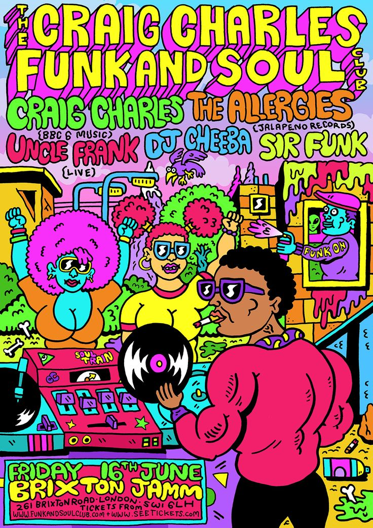 Craig Charles Funk and Soul Club poster by Russell Taysom