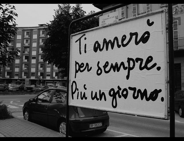Love you forever and a day! Italian sayings.
