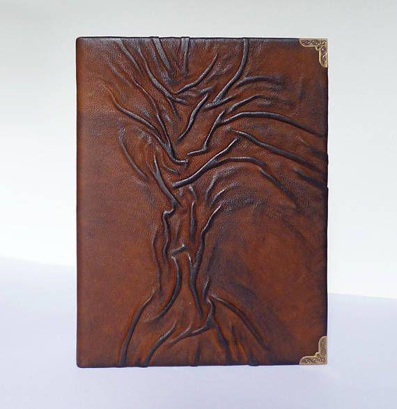 Leather Photo Album Tree of Life Family Album Leather Art #leatheralbum #photoalbum #familyalbum #leathergift #leatherart #treeoflife