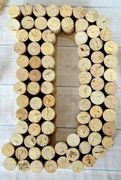 diy cork letter