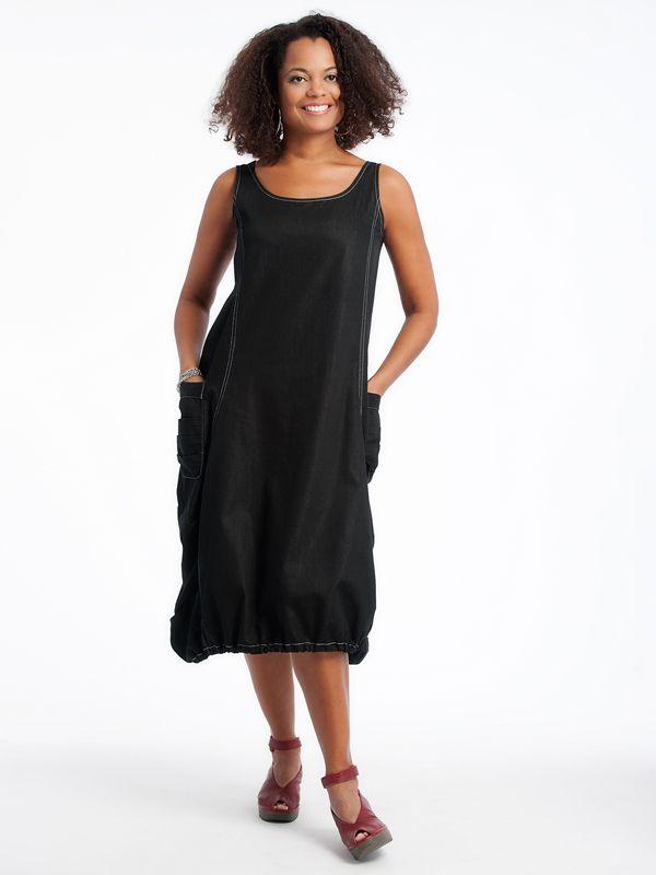 Denim Issey Dress Fly Shoes www.lousjeandbean.ca  #lousjeandbean  #shoplocal #canadianmade #flyshoes #isseydress Tessa Oort ~ Lousje & Bean