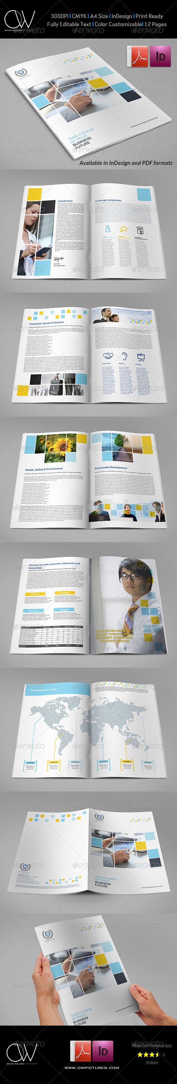 Company Brochure Template Vol.30 - 12 Pages - Corporate Brochures