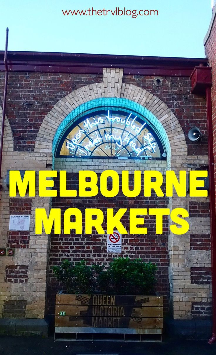 The top 5 markets in Melbourne. Click to read more!!: