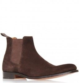 Grenson Brown Suede Declan Classic Chelsea Shoes