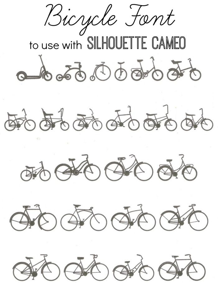 Enjoy the Ride... {Free Bicycle Images to Use with the Silhouette} - Knick of Time