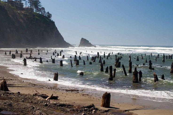 Coastal Town Of Neskowin In Tillamook County Oregon