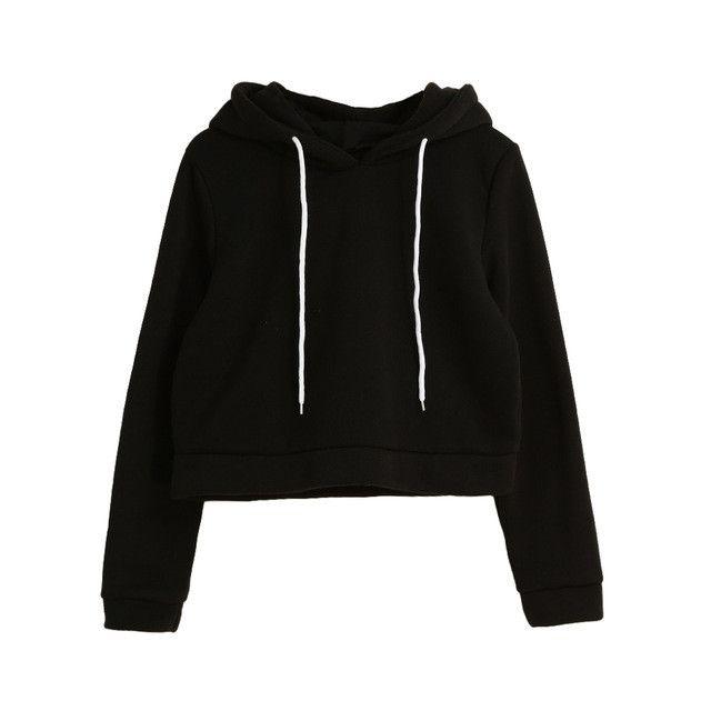 Truien Dames Ladies Cropped Hoodies Short Sweatshirts Women Solid Long Sleeve Self-tie Pullover Hooded Tops Plus Size Tracksuit