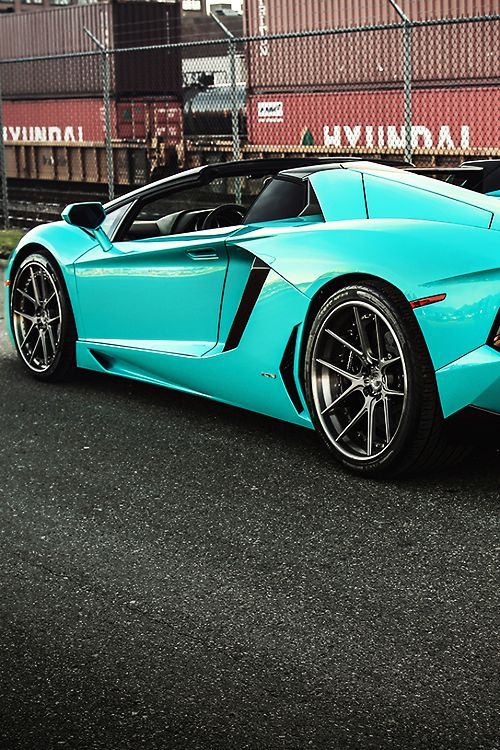 Blu Glauco Aventador Roadster by Marcel Lech
