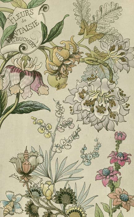 Japanese Fantasy Flowers  These colourful Art Deco floral images are fine art gi…   – Geisha to Gatsby ideas