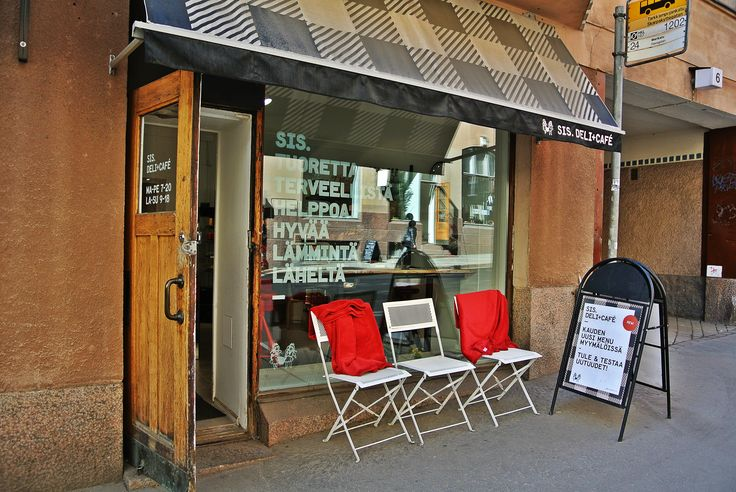 """""""Sis."""" Deli is owner by to sisters and offers organic and healthy takeaway food.  #food tour #Helsinki #Finnish food #Scandinavia #deli"""