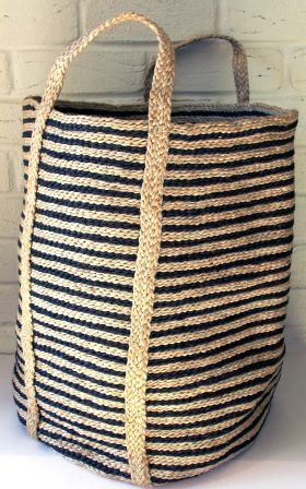 Striped Jute Laundry Basket from Eco Chic