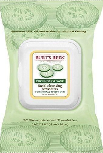 Burt's Bees Facial Cleansing Towelettes Cucumber and Sage 30 ea (Pack of 2)
