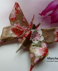 Butterfly, origami brooche.