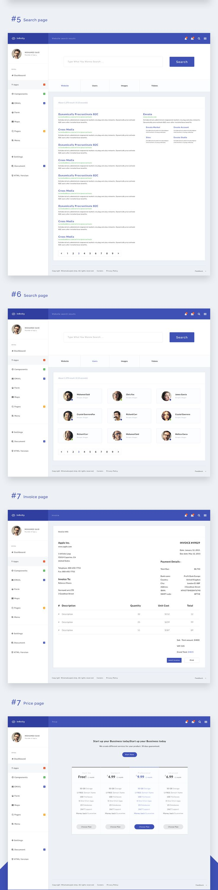 Fully responsive and full featured Web App and Admin Template powered by the popular Bootstrap framework