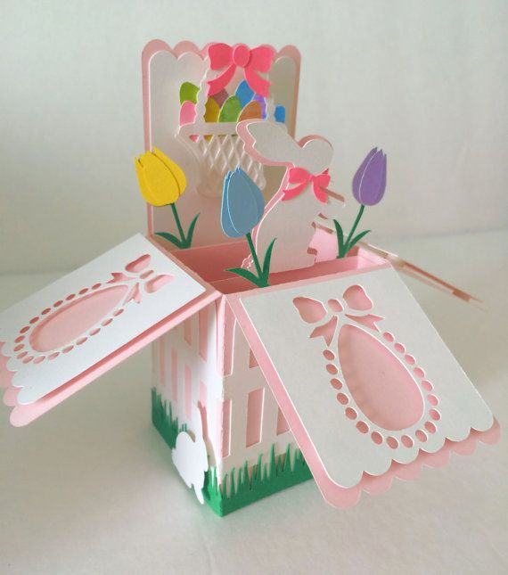 66 best pop up box cards images – Boxed Easter Cards