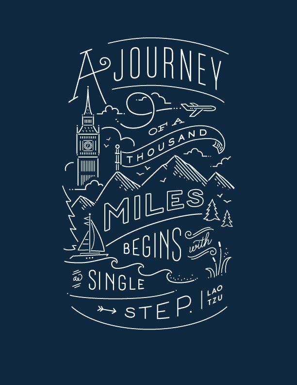 a journey of a thousand miles begins with a single step. lao tzu quote