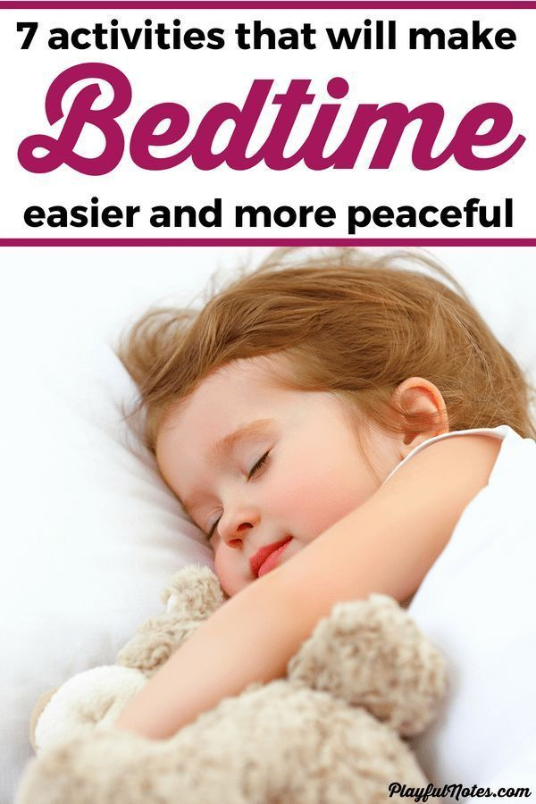 How To Help Kids Manage Sleep >> 7 Activities That Will Help Kids Get Ready For Bedtime In A
