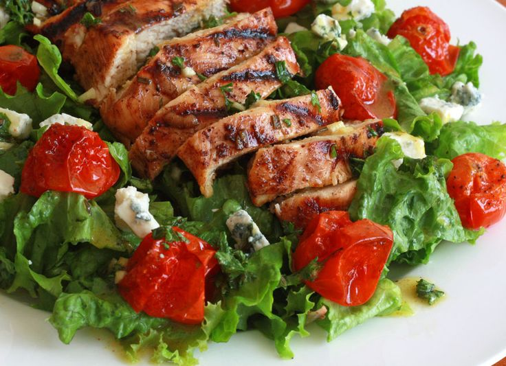 Grilled Chicken and Roasted Cherry Tomato Salad with ...