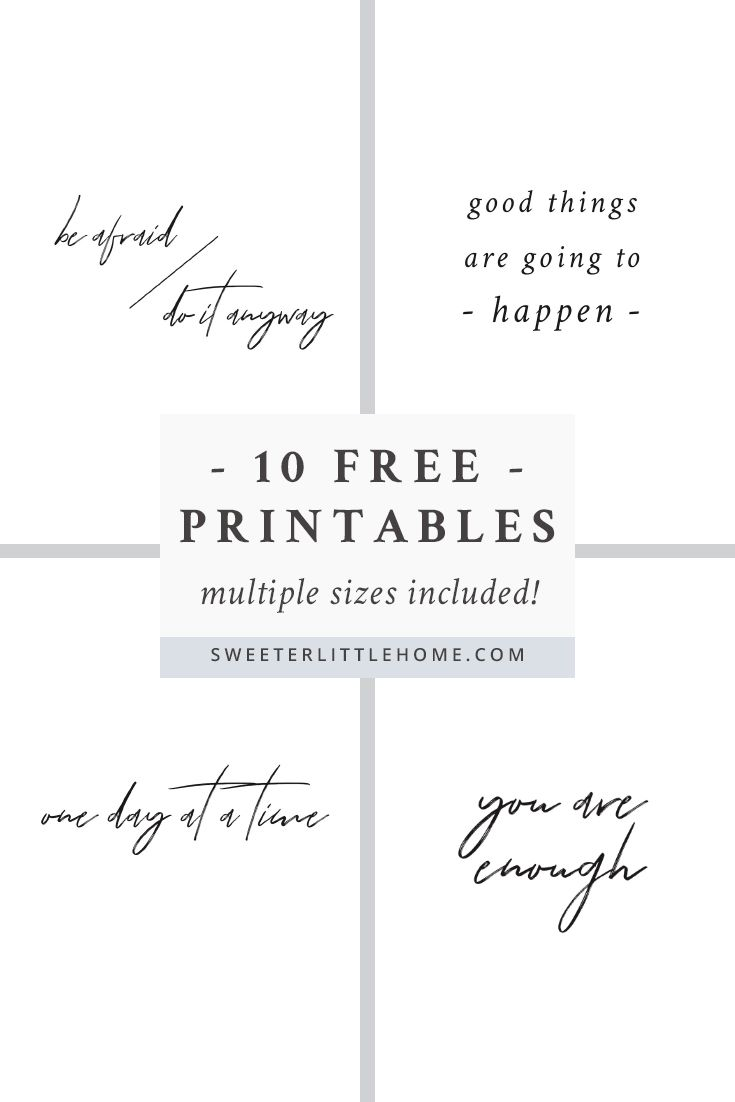 free printable wall art quotes black and white