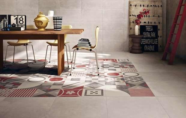 Piastrelle geometriche tendenza casa 2016 - Tappeto ceramico