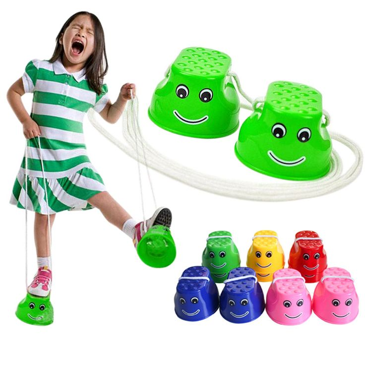 $7.68 - Cool 1 Pair Outdoor Plastic Balance Training Smile Face Jumping Stilts Shoes for Children Walker Toy Monster Feet Fun & Sports FJ88 - Buy it Now!