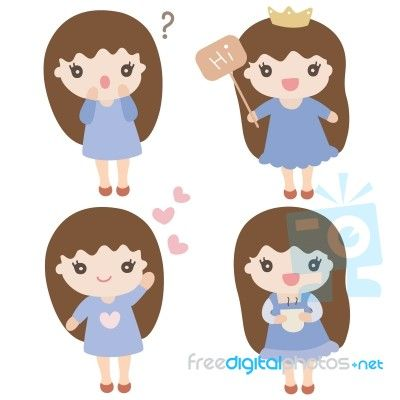 Cartoons characters for girls