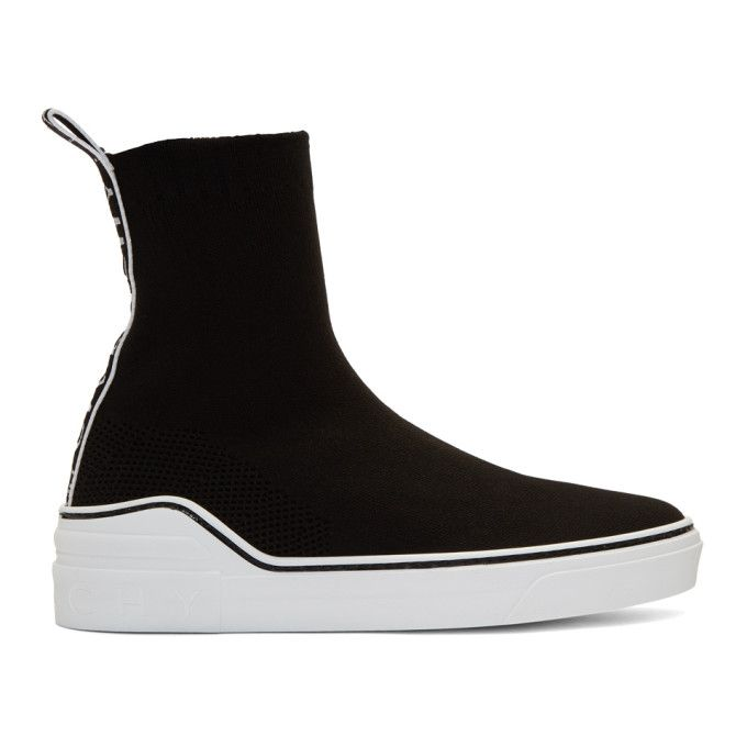 Givenchy Black Knit George V Sneakers