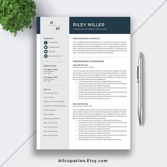 2019 resume template for word    cv template  professional