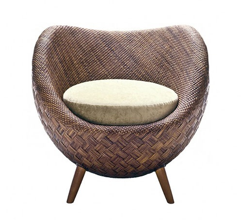 Furniture For Designers picture Rattan La Luna Chair By Kenneth Cobonque Basket Wicker Chair