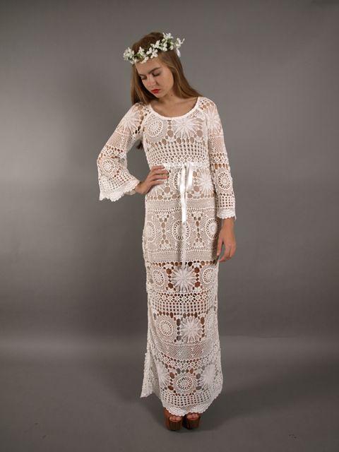 31 best Crochet Wedding Dress images on Pinterest | Bridal gowns ...