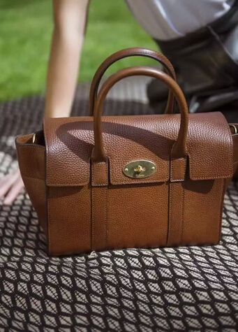 New Edition!2016 Mulberry Handbags Collection Outlet UK-Mulberry Small New Bayswater OAK Natural Grain Leather
