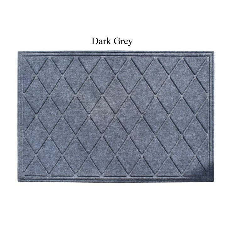 """A1HC First Impression Diamond 24"""" X 36"""" Eco-Poly Indoor/Outdoor Mat (dark grey) (Rubber)"""