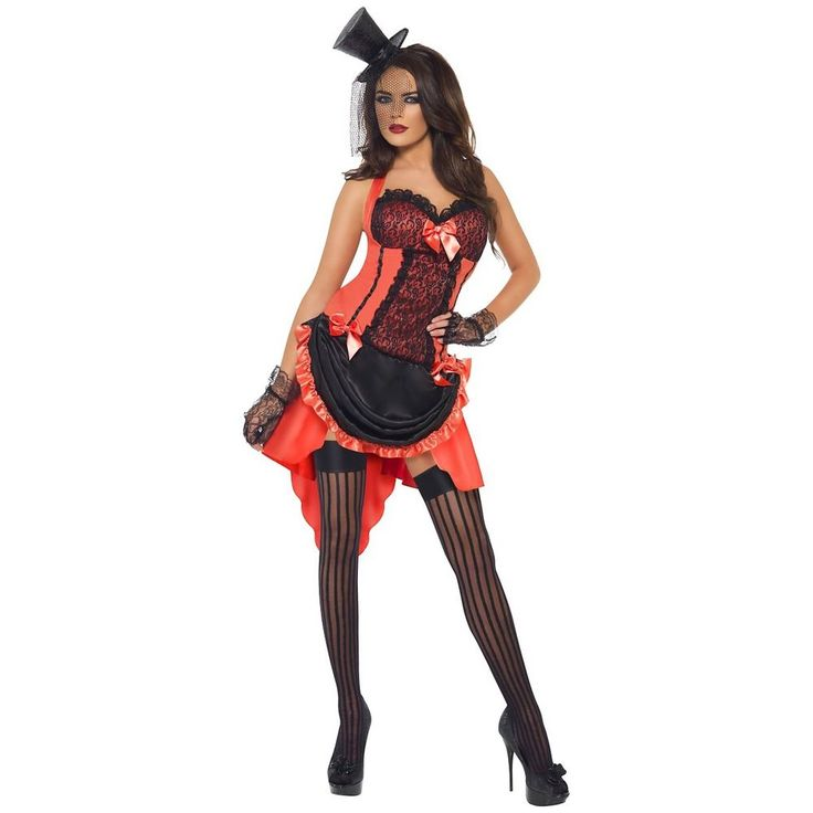 saloon girl costume adult can can dancer burlesque cabaret halloween fancy dress - Can Can Dancer Halloween Costume