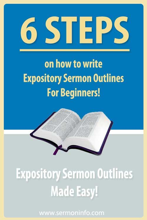How To Write Expository Sermon Outlines For Beginners! #sermons