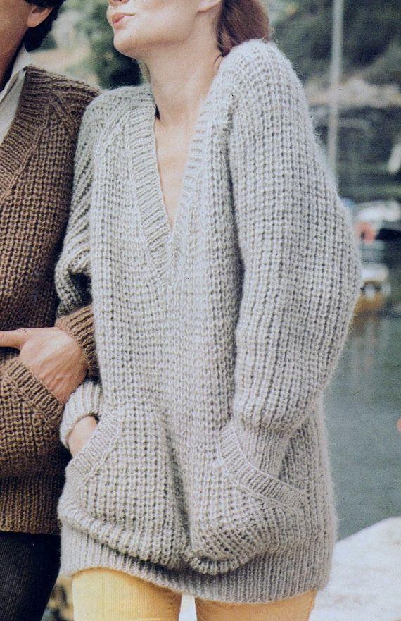 Pdf Immediate Digital Download Row By Row Knitting Pattern