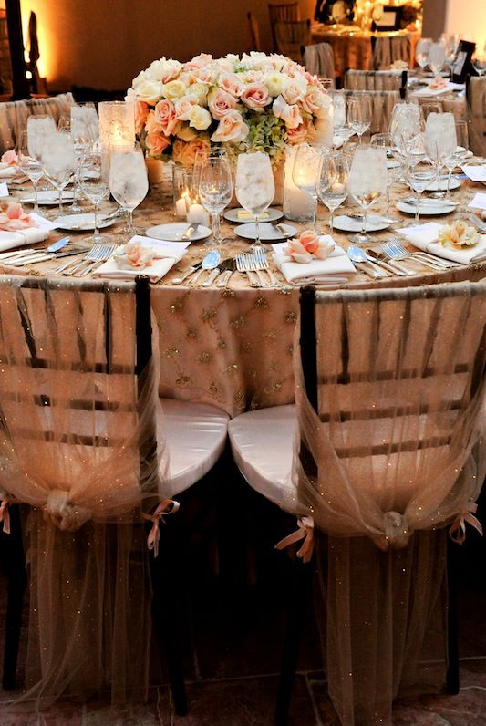 Sheer Overlay matching for table and chairs