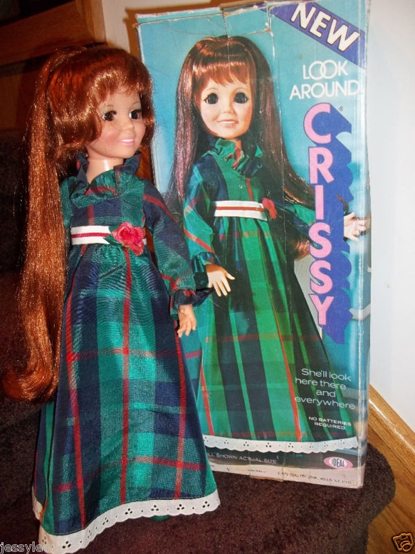 Oh the memories...I cut her hair.  Ha ha...OMG!!!  My cousins cut my Crissy Doll's hair!! We laugh about it now, but back then...Oh my!!!!