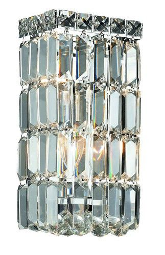 2032 Maxime Collection Wall Sconce W6in H12in E4in Lt:2 Chrome Finish (Elegant Cut. 2032 Maxime Collection Wall Sconce W6in H12in E4in Lt:2 Chrome Finish (Elegant Cut Crystals)  Watts: Lumens: Lamp Type: Shape: Style:Contemporary Light Bulbs:2 Bulb Type:E12 Bulb Wattage:40 Max Wattage:80 Voltage:110V-125V Finish:Chrome Crystal Trim:Elegant Cut Crystal Color:Crystal (Clear) Hanging Weight:8