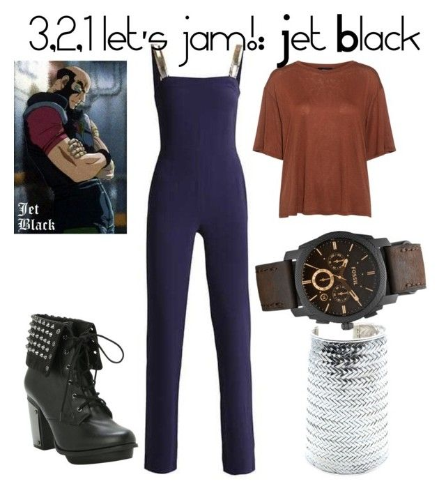 """""""3,2,1 let's jam!: Jet Black"""" by alexandra-mccreary on Polyvore featuring Theory, Hot Topic, FOSSIL, anime, TV, CasualCosplay, CowboyBebop and Jet"""