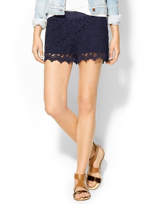 Lily Pulitzer Navy Lace Shorts