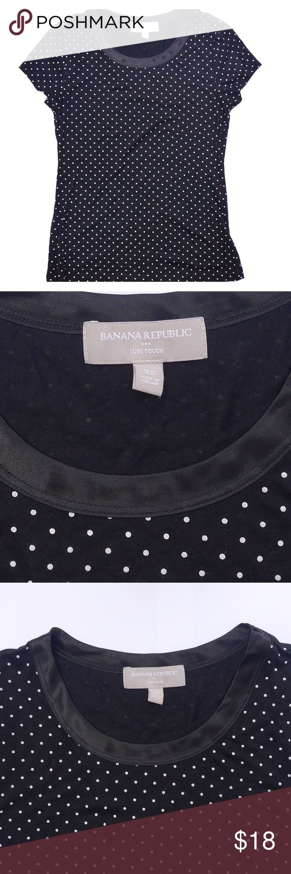 BANANA REPUBLIC - Polka Dot T-Shirt NWOT - Super soft great quality fabric. Has some stretch and is super cute. Banana Republic Tops Tees - Short Sleeve