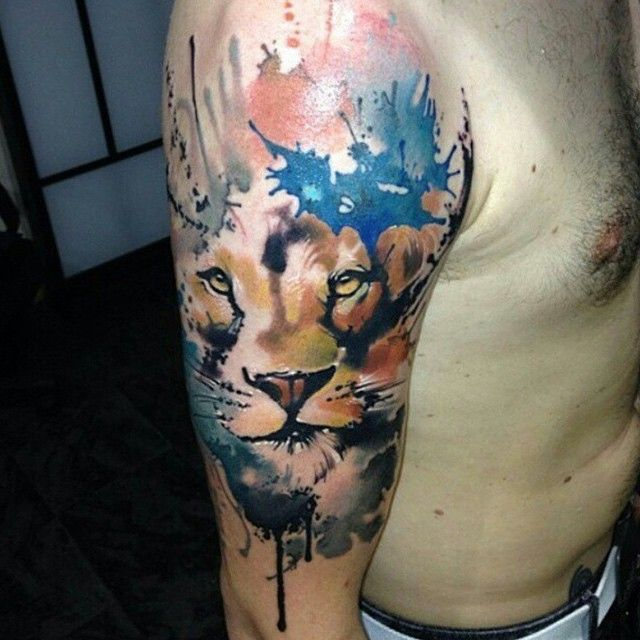 101 Lion Tattoo Designs For Boys And Girls To Live Daring: 30 Best Lion Tattoo Color Sleeve Images On Pinterest