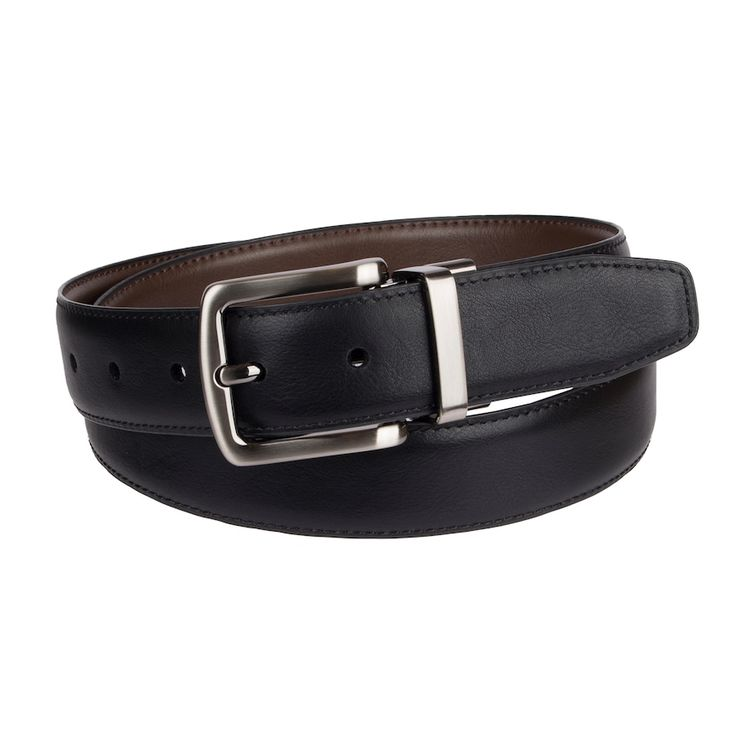Men's Croft & Barrow® Stretch Reversible Belt, Size: Small, Dark Brown