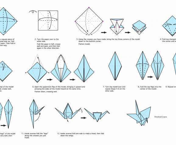 How To Make Origami Crane Step By Step Instructions