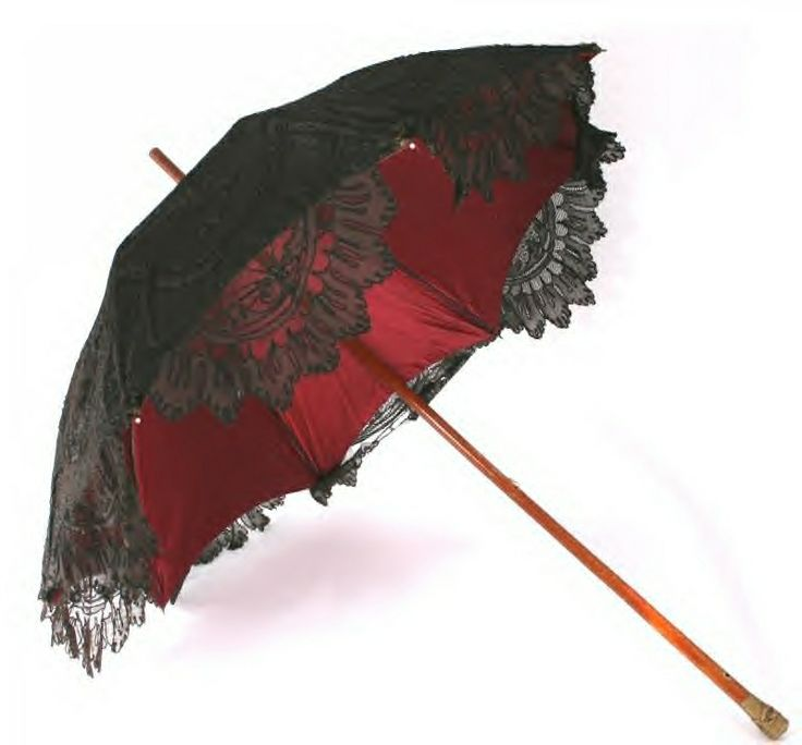 Black And Red Parasols Gloves Purses